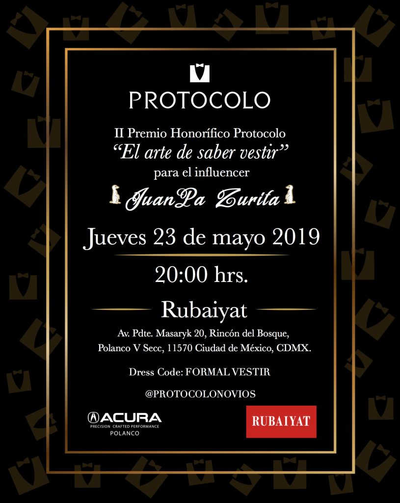 Premio Juanpa Zurita Protocolo Novios