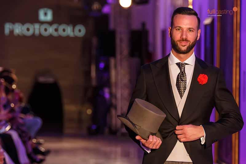La firma Protocolo Novios desfila con su nueva colección de trajes de novio en Aragón Fashion Week 2019