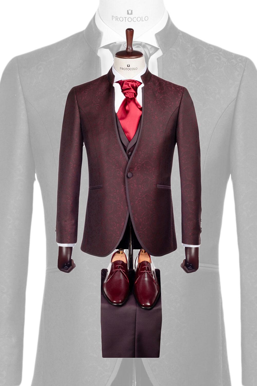 Protocolo Novios nueva colección traje granate fantasía