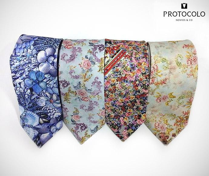 corbatas con flores Protocolo